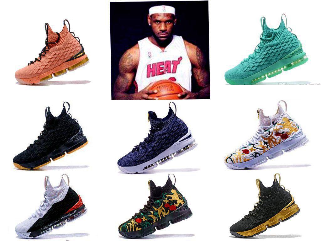2018 Yeni tasarımcı ayakkabı 15 EQUALITY Siyah Beyaz moda nefes Basketbol Ayakkabıları Erkekler 15 s EP Spor Eğitim Sneakers için Boyutu 40-46