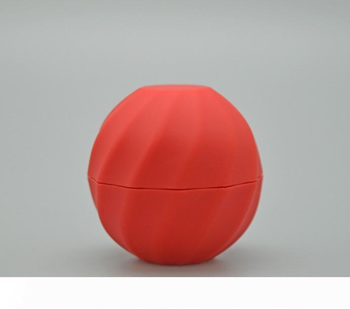 A Blank Cosmetic Ball Container 7g 5colors Lip Balm Jar Eye Gloss Cream Sample Case Red Orange Purple Green Black