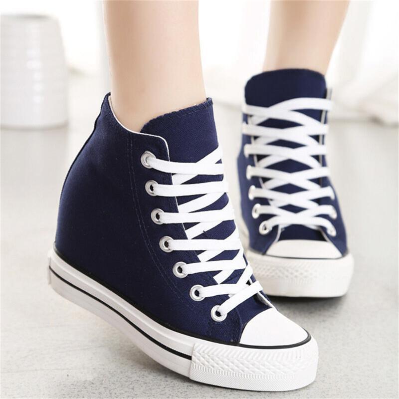 Hot Sale-Superstar WedgesWoman Plate-forme Hauteur du talon Chaussures augmentation précarisés chaussure femme