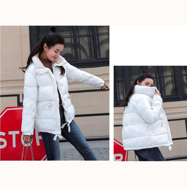 Women Designer Down Coat Fashion Solid Color Bright Dowm Womens Luxury Trend Parkas Women Winter Clothing Top Quality