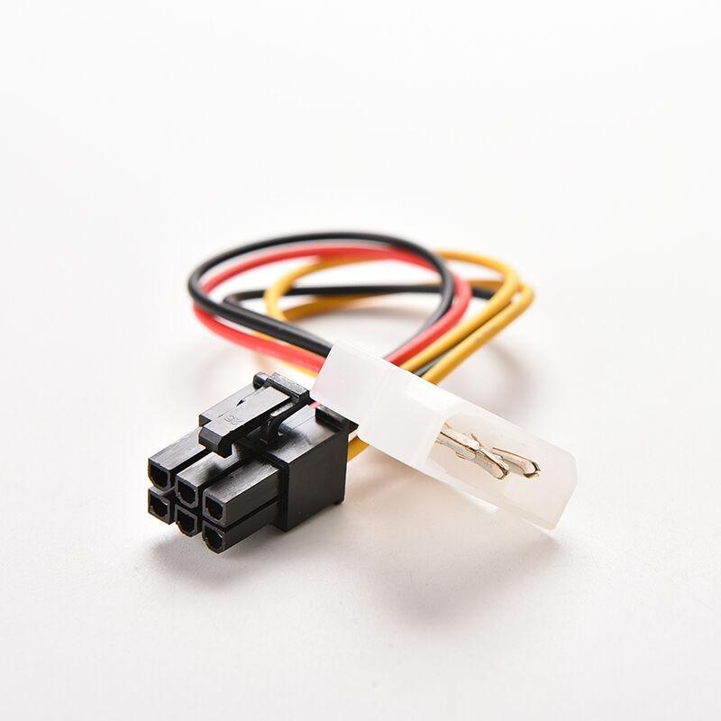 Бесплатная доставка 4 PIN-код MOLEX IDE до 6-контактных PCI-E Графическая карта Power Power Cable Adapter