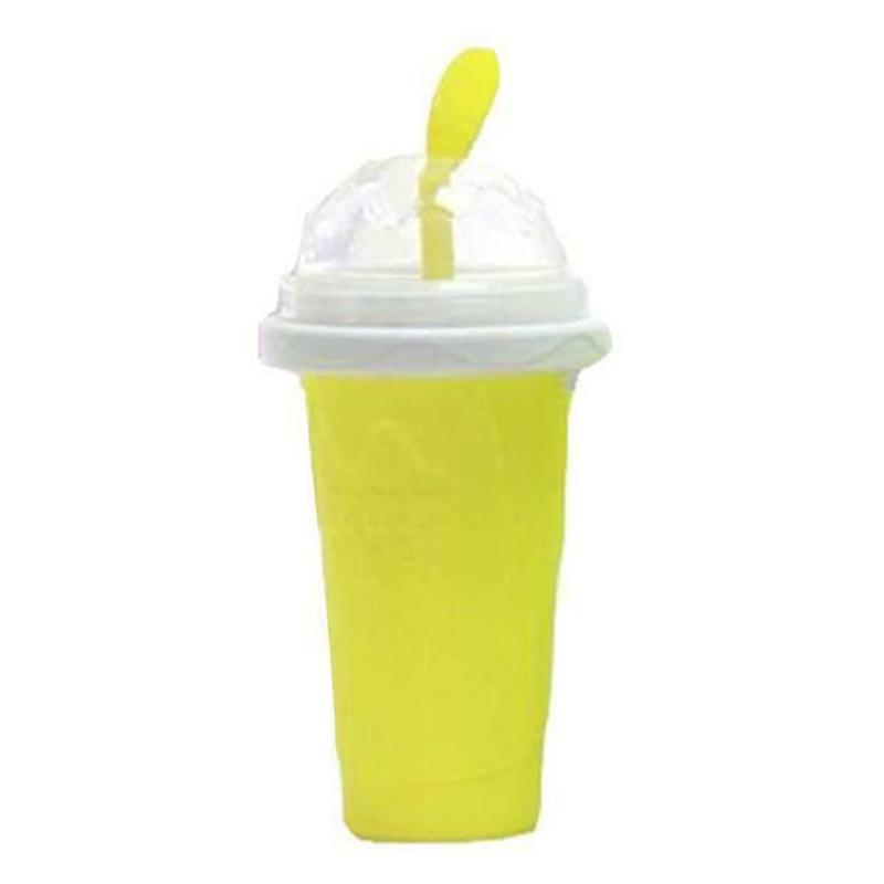 Slushy Ice Cream Maker Squeeze Peasy Slush Quick Cooling Cup Milkshake Bottles JS23 Other Dinnerware