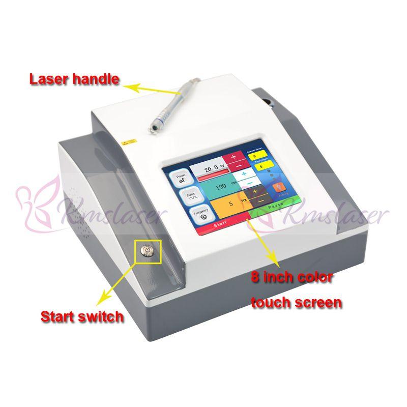 Portable 980nm diodo laser laser vascolare vascolare vaso sanguigno rimuovi la macchina del lazer della terapia della vena del ragno