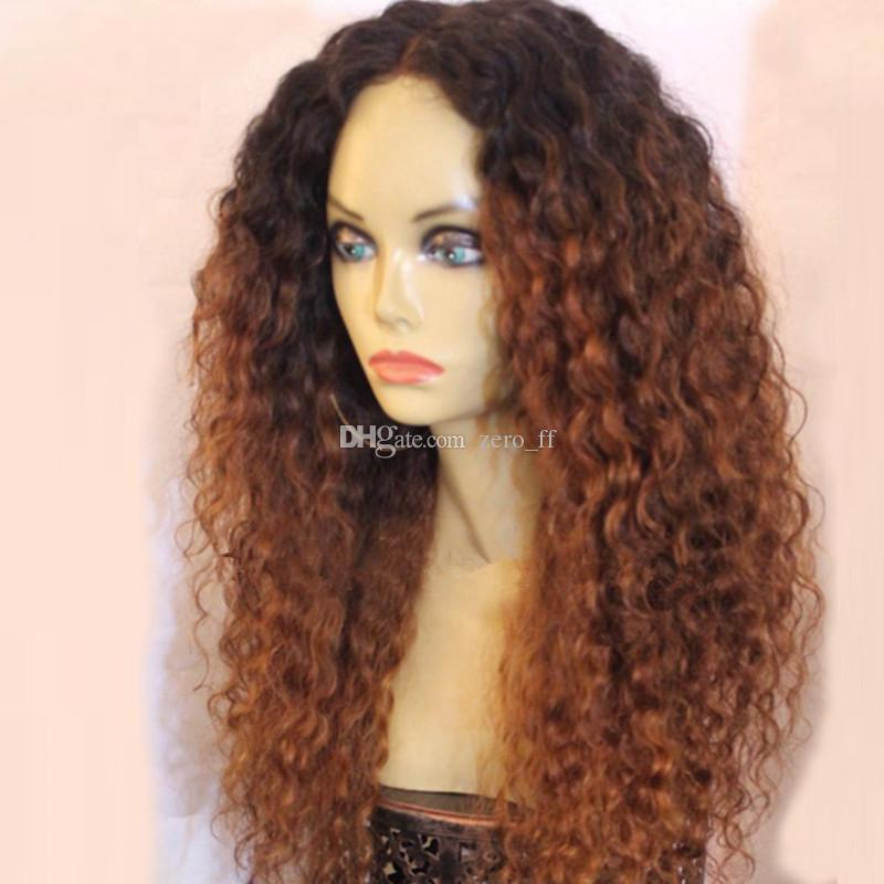 Dark Root 1b 30 Ombre Full Lace Wigs Virgin Curly Human Hair Ombre Blonde Dark Root Lace Front Wigs For Women Bleached Knots