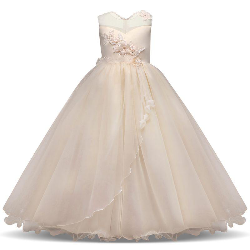 Compre Vestidos Para Graduación 2019 Vestidos Largos Y Elegantes Para Niños Vestido De Fiesta Para Niñas Y Niñas Vestido De Noche Floral Vestido De