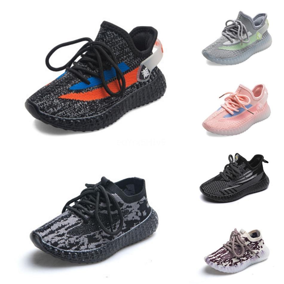 Bebé del niño de la arcilla V2 cabritos que se ejecutan zapatos para caminar deporte zapatos atléticos de Kanye West estático Glow In The Dark Chaussure De jóvenes Size24-35 # 877