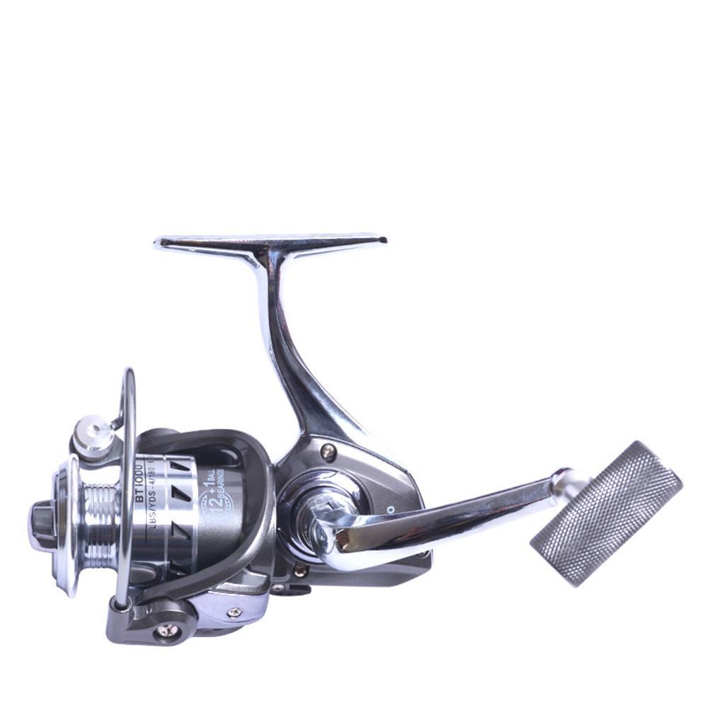 Рыболовная катушка Спиннинг 12 + 1 BB Metal Spinning Катушки Тяжелое Drag Boat Fishing Reel 5.2: 1 Карп Рыбалка Spinner Песка инструмент
