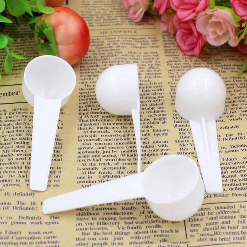 10ML 5G قياس البلاستيكية المجرفة PP قياس ملعقة من البلاستيك الأبيض قياس سكوب الغذاء قياس ملاعق حليب بودرة ملعقة مطبخ أداة DBC DH2568