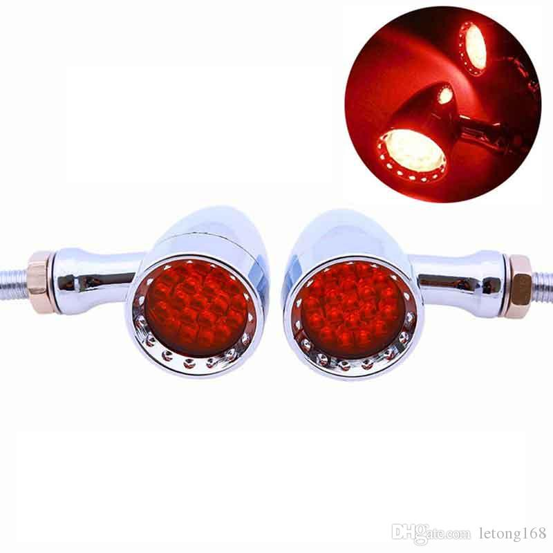 Moto Clignotants Motocross LED rouge frein Rurning Tail Lamp Ampoules