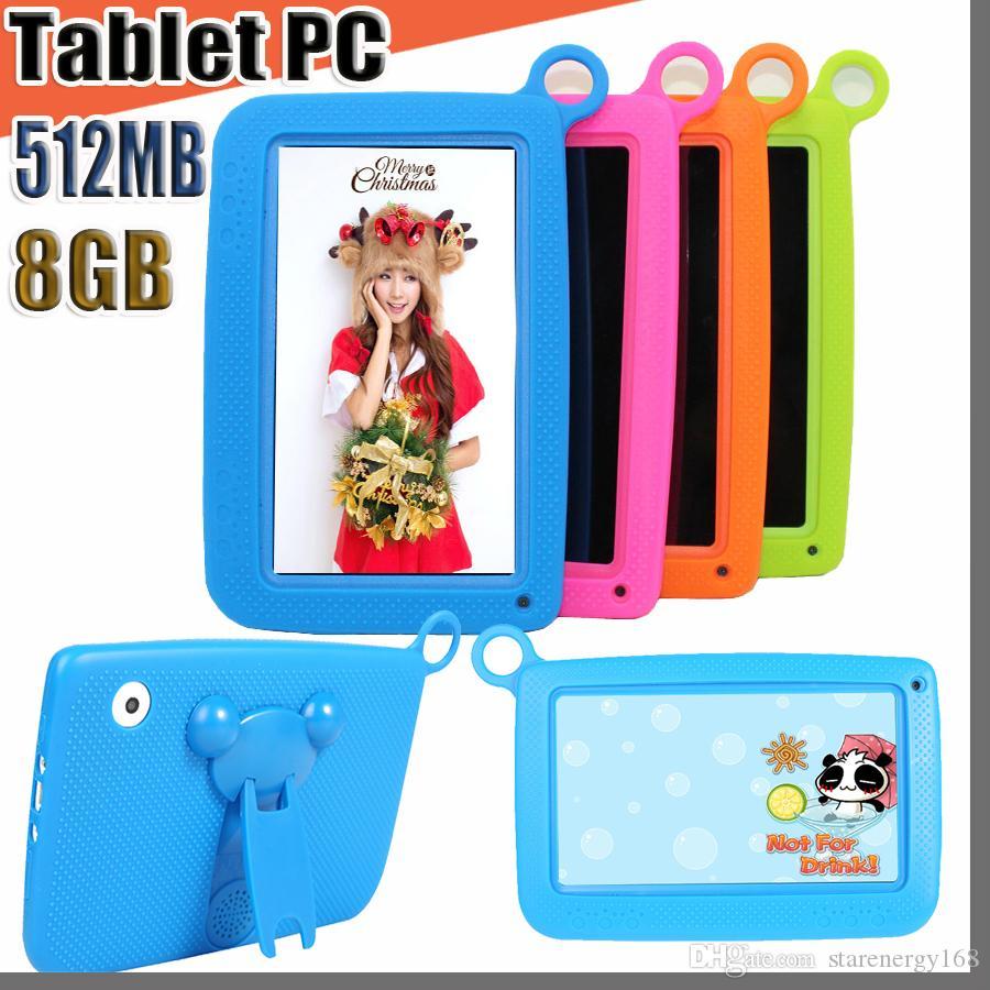 """168 키즈 브랜드 태블릿 PC 7 """"쿼드 코어 아이 태블릿 안드로이드 4.4 Allwinner A33 구글 플레이어 와이파이 큰 스피커 보호 커버 M-7PB"""