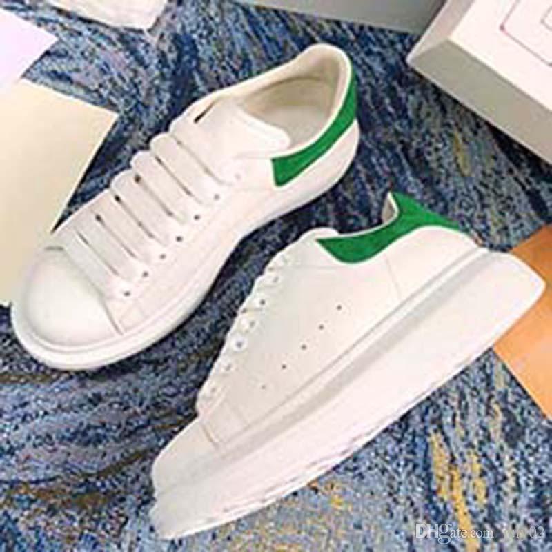 2020 weiß Schwarz Frauen der Männer Chaussures Schuh Schöne Plattform-beiläufige Schuh-Leder-Volltonfarben Eleganter Schuh II2