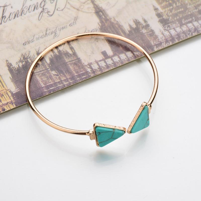 Disparo real joyas de oro del triángulo del color Flecha brazaletes de las pulseras bohemias de las mujeres