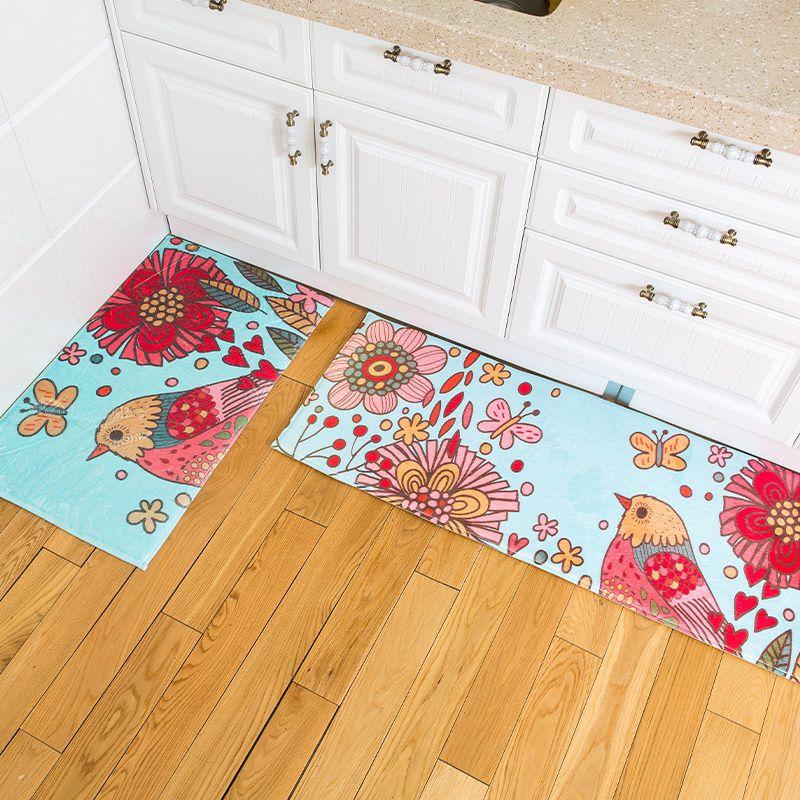 Floor Mat Carpet Soft Doormat Anti-slip Flannel 8 Designs Home Living Room Hallway Kitchen Bedroom Bathroom Floor Doormat Rugs