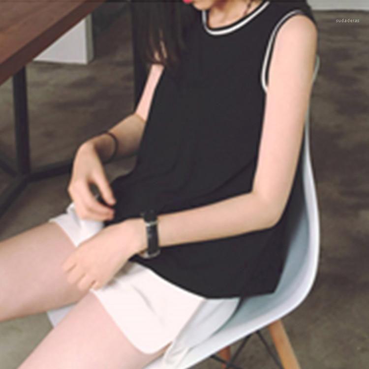 Crew Neck Sexy Luxe Femme Blouses Printemps Casual vrac Débardeur Designer femmes d'été sans manches T-shirts
