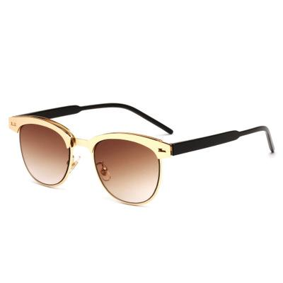 Wholesale-Hot Ins Popular Moda Personalidade UV400 Dazzling óculos de armação pérolas decorado Cool Metal ultravioleta prova Sunglasses Quadro