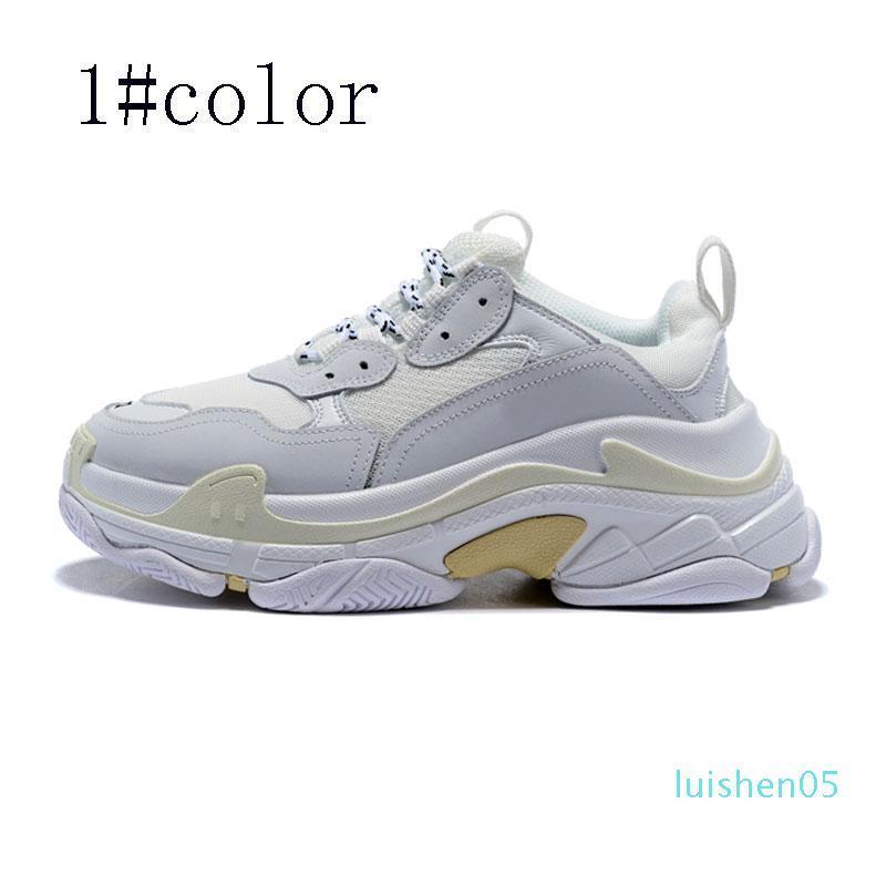 2020 горячий новый дизайнер обуви моды спорта Париж высокое качество случайных папа мужские и женские черные и белые ботинки размер 36-45 AS03