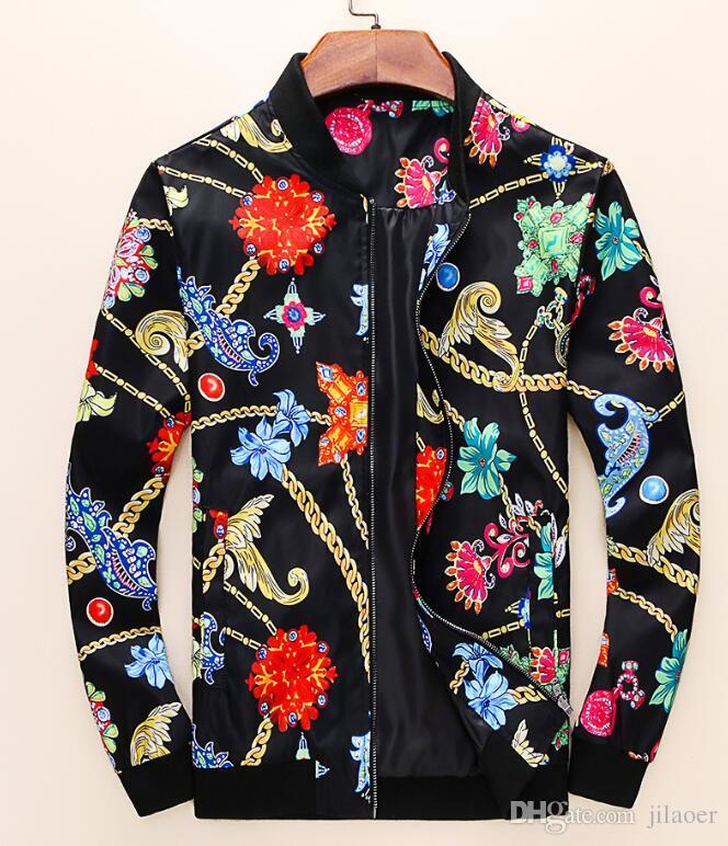 2019.AutumnWinter yeni lüks tasarımcı uzun kollu Medusa erkek rüzgarlık ceket erkek spor ceket # 3329