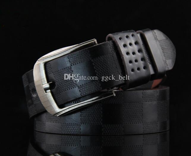 2019 Cintura da uomo in vera pelle di lusso cinturino maschile cinture per uomo Nuova moda Classice Vintage fibbia ad ardiglione all'ingrosso