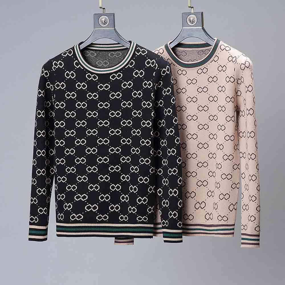 Design con cappuccio manica lunga felpata Lettering Pullover Uomo Maglione maschile Maglione ricamo vestiti di inverno