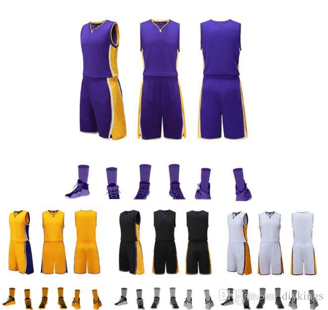 Heißer Verkauf Blank Klassische farbe Basketball Jersey Anzug Anpassung Basketball Team Uniform Anpassung Basketball Training Set Competiti