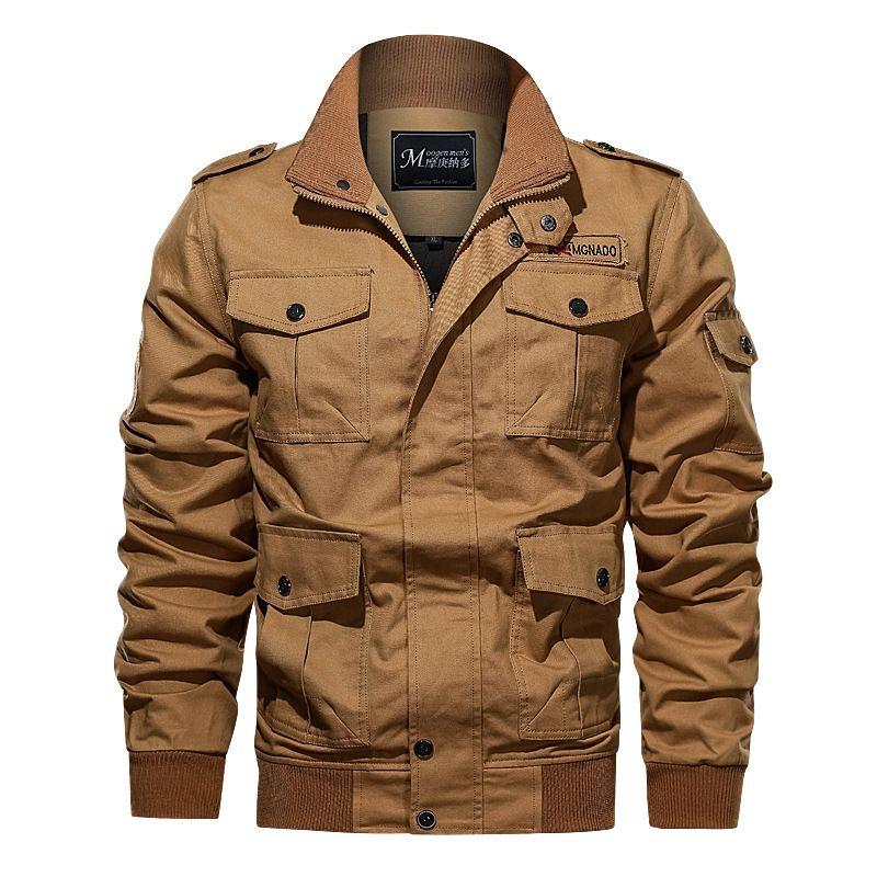 Ivan Johns Coats Bomber Solid Jacket Men Casual Spring Sportswear Motorcycle Mens Jackets