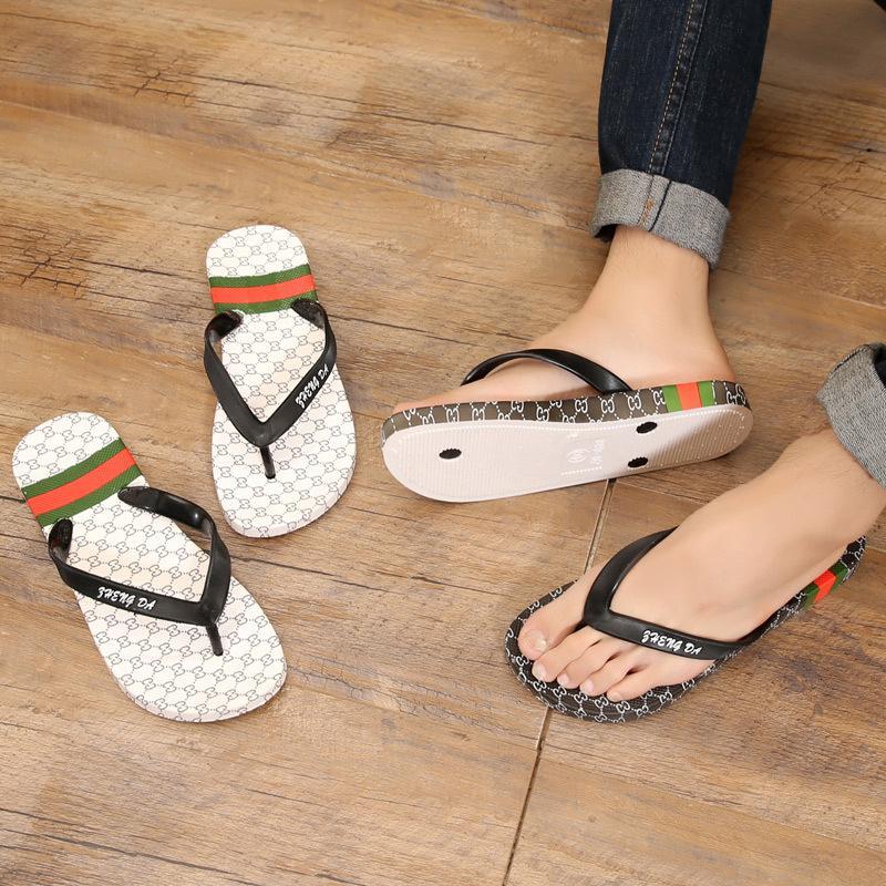 Erkekler Düz Kaymaz Dış Giyim Yumuşak Alt Seaside Beach Sandalet Ana Terlik çevir-flop Flip-flop