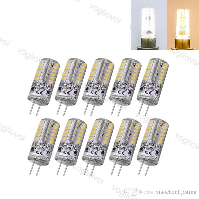 قاد المصابيح SMD2835 G4 5W 48LED DC12V الدافئة الأبيض الذرة المصباح مصابيح سيليكون مصابيح الكريستال الثريا ضوء المنزل eub