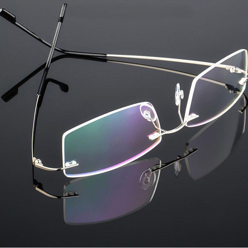 Memoria flexible de titanio sin montura marco de anteojos mujeres hombres gafas ópticas ligeras gafas de grau marco de gafas s127