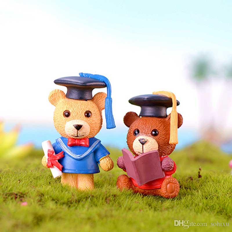 2020 Doctor Bear Cartoon Resin Crafts Terrarium Figurines Resin