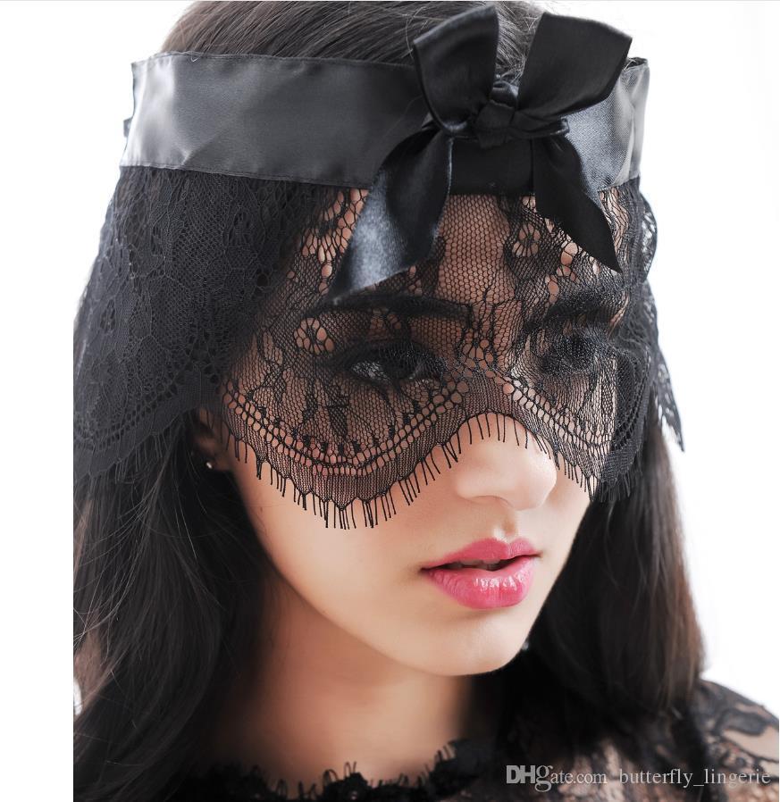 أقنعة قناع جديد مثير الرباط الرموش الوجه نظارات ملهى ليلي أزياء الملكة أنثى جنس ملابس داخلية انقطاع العين قناع تنكر حزب