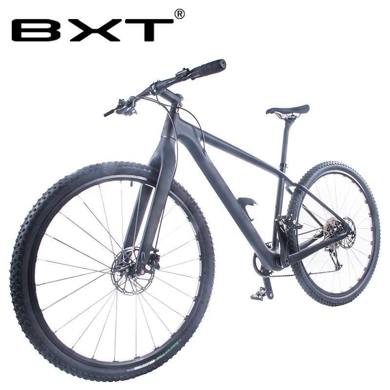Kostenloser Versand 29er Mountainbike T800 Carbon-MTB Fahrrad-Radfahren 1 * 11 Speed mechanische Bremse 29er Carbon-100 * 15mm Vorderradgabel