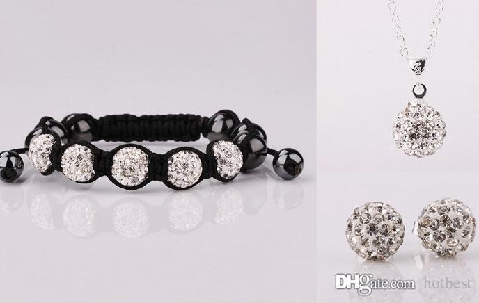 5Pcs / lot 10mm di cristallo migliore discoteca dell'argilla nuovo arrivo bead con strass di cristallo del braccialetto collana borchie gioielli orecchini o3422 p4
