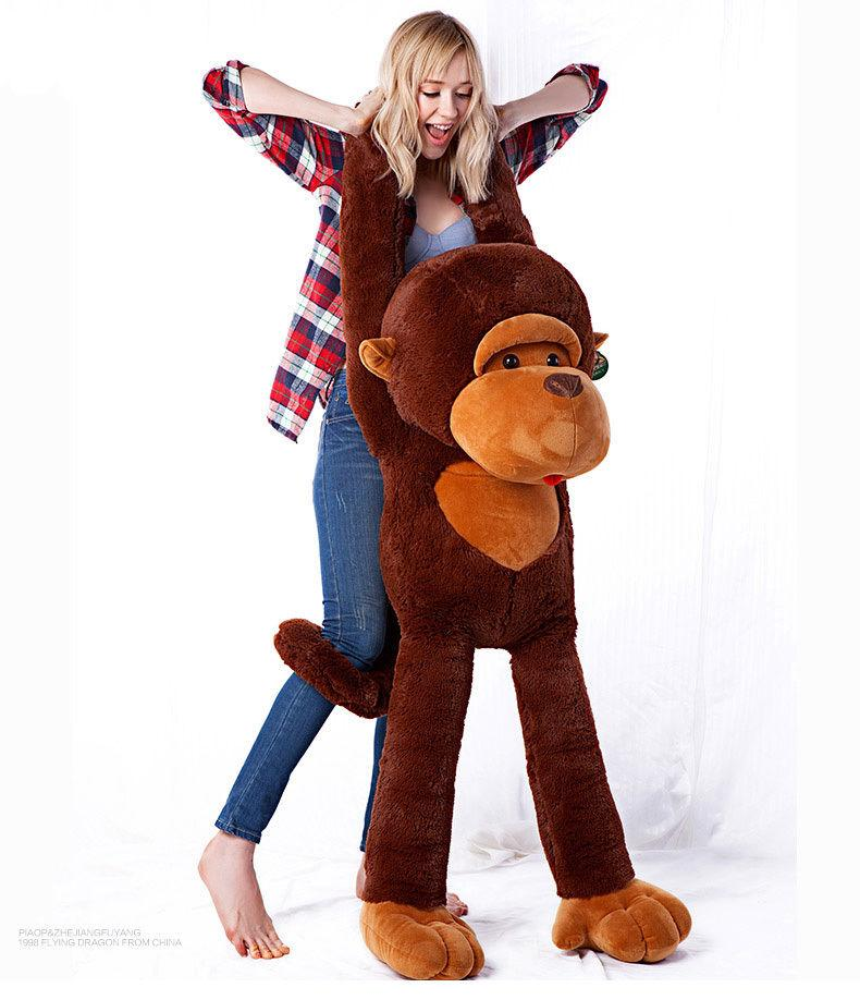 GIGANTE GRANDE GRANDE GRANDE ANIMAL RELLENO PELUCHO SUAVE MARRÓN MONKEY BEAR DOLL PLUSH TOY