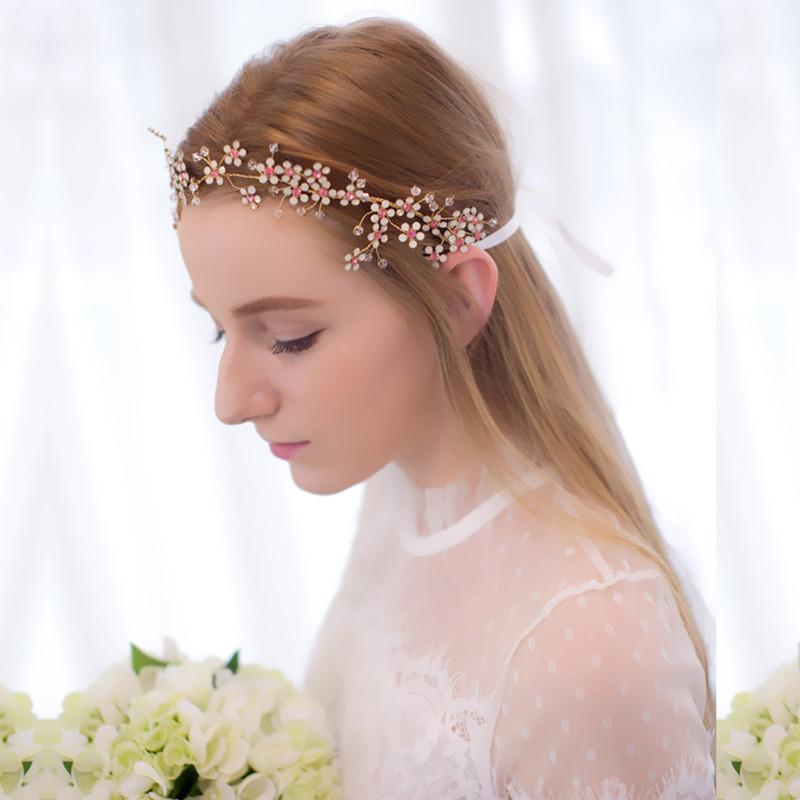 handmade bridal tiaras for wedding hair accessories new 2016 wedding headpiece jewelry for hair headband bendable forehead jewelry crystal