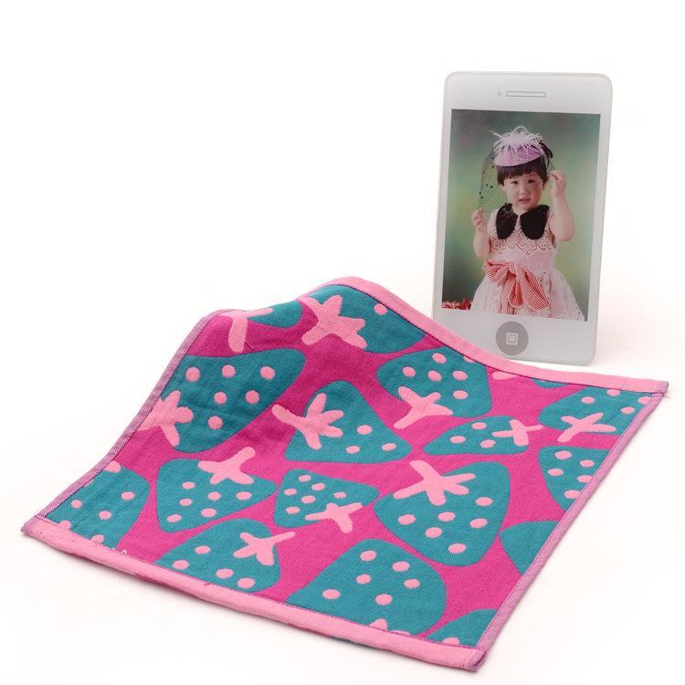 사각형 수건 딸기 보육원 손 수건 걸이 로프면 아기 깨끗한 towelcloth 거즈 3 개의 2 개 / 많은