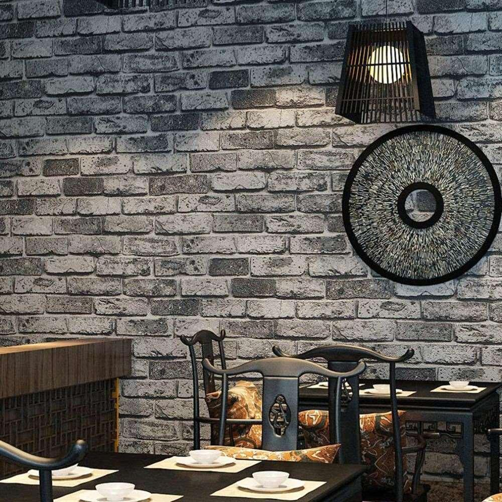 Home Decor Wallpaper Self Adhesive Wall Stickers Vintage Brick Wallpaper  Roll Decal Mural Diy Bedroom Tile Home Decoration Decorating Stickers  Decorating ...
