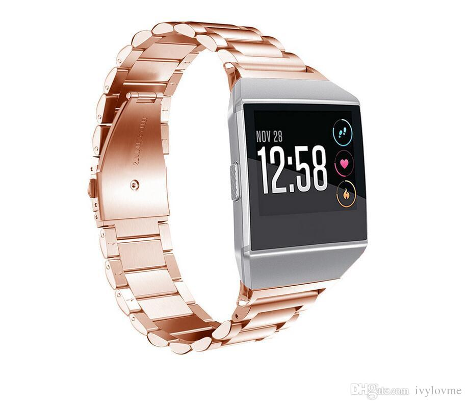 High Quality Luxury Stainless Steel Watchband For Fitbit ionic Smart Wristwatch Replacement Bracelet Strap Watch Band