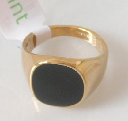 Men's Ring hot selling classic men finger ring 18k gold plated fashion jewelry black ring man