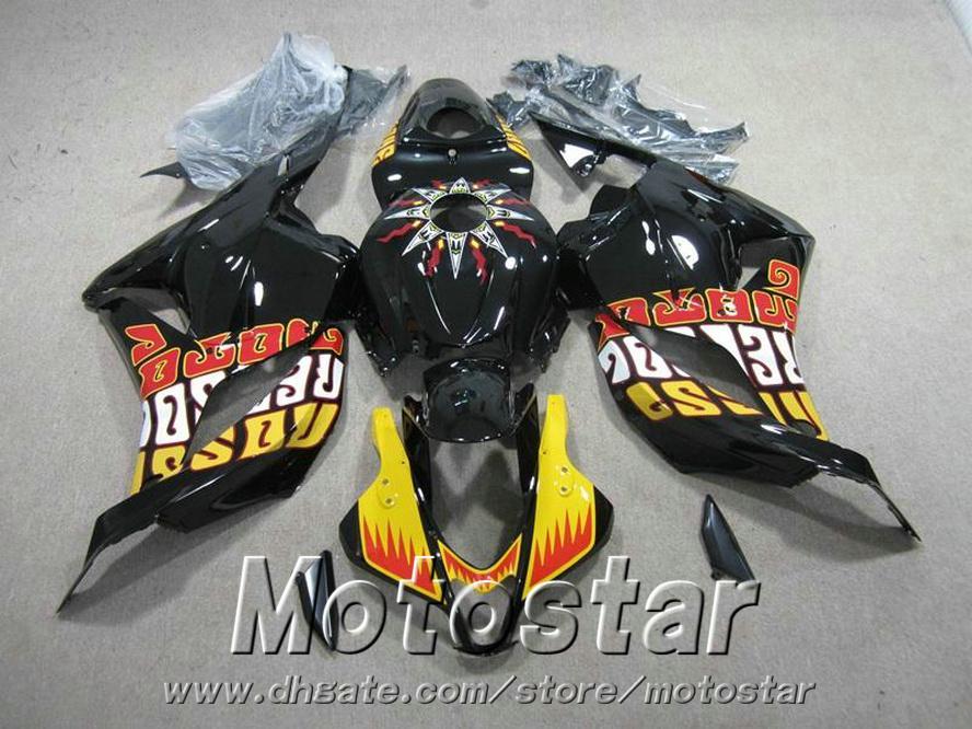 7 regali + carene moto Honda Stampaggio a iniezione CBR600RR 09-11 carenatura giallo nero CBR 600 RR 2009 2010 2011 YR48