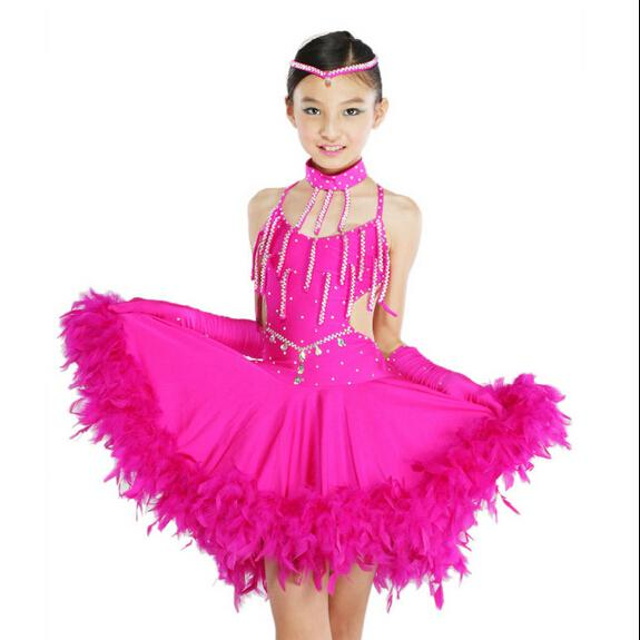 Compre Trajes De Niños Vestidos De Baile Latino Salsa Tango Vestidos ...
