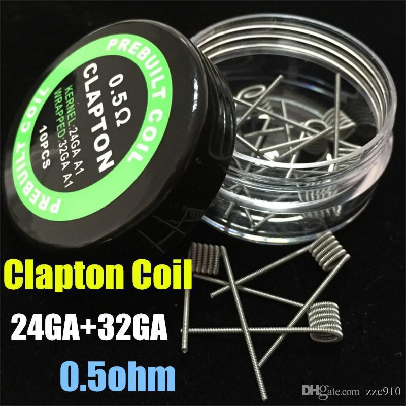 새로운 핫 플랫 Twisted Fused Clapton 코일 하이브 Premade 랩 와이어 Alien Mix Twisted Quad Tiger 가열 저항 와이어 Vape RDA 무료 배송
