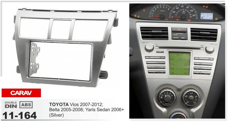Carav 11 164 Top Quality Radio Fascia For Toyota Vios 2007 2012 Rhdhgate: 2007 Toyota Yaris Dash Radio At Gmaili.net