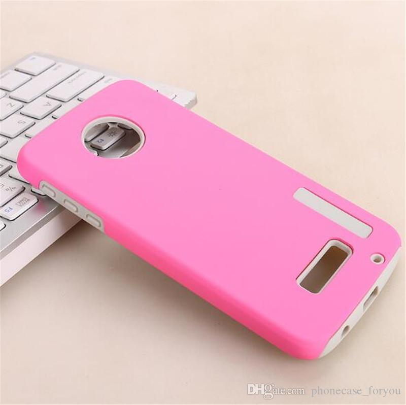 Dual Layer Back Covers Defender Armor Cell Phone Case For Motorola Moto C Plus E4 Plus Z2 play