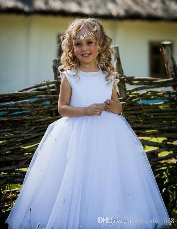 골치 아픈 건 진주 가운 가운 아기 소녀 생일 파티 크리스마스 드레스 어린이 소녀 파티 드레스 꽃 파는 아가씨 드레스