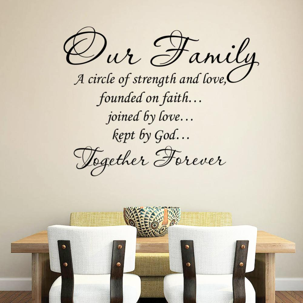 Our family together forever quotes letter pattern design pvc our family together forever quotes letter pattern design pvc removable wall sticker wedding decoration vinyl mural large wall stickers for kids large wall amipublicfo Gallery