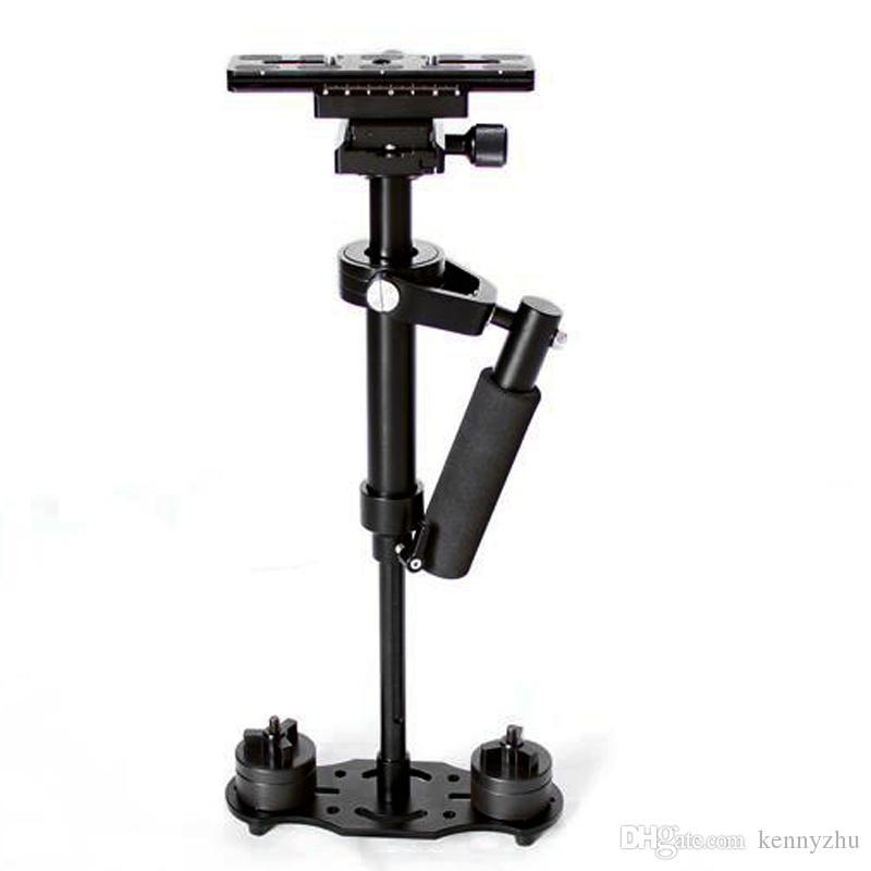 Mini portátil de alumínio Estabilizador S-60 60CM Para Camcorder DV Video Camera DSLR Canon Nikon