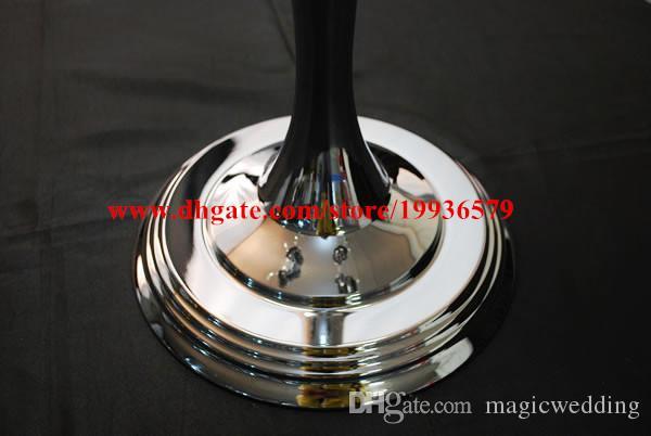 H75cm gold &sliver 5 arm candelabra centerpiece with flower bowl on top for wedding decor