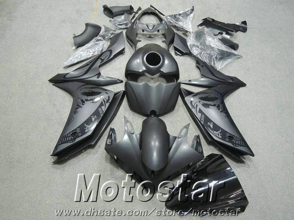 7 gifts plastic fairings for YAMAHA YZF R1 2007 2008 plastic fairing kit YZF-R1 07 08 matte black motobike set YQ42
