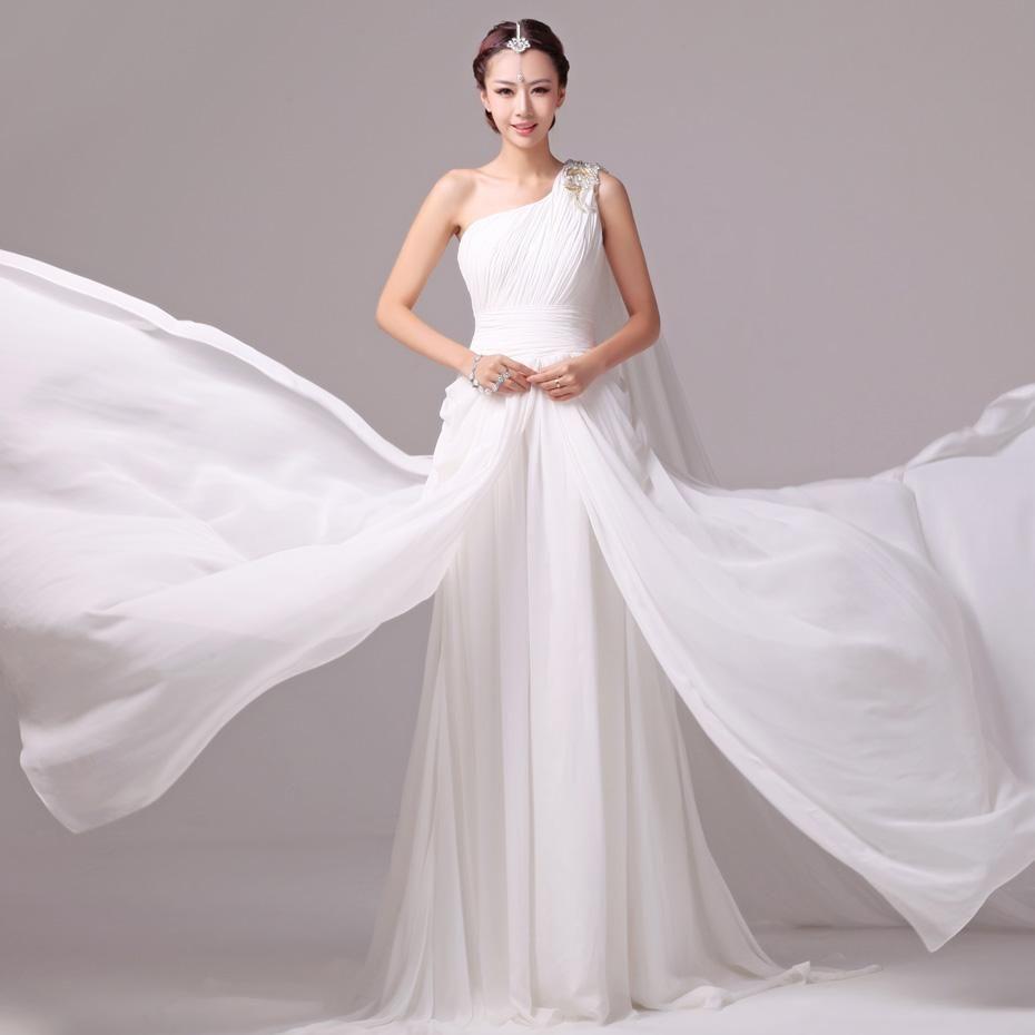 Goddess Wedding Dresses: 2015 Goddess Greek Sheath Beach Wedding Dresses Colorful