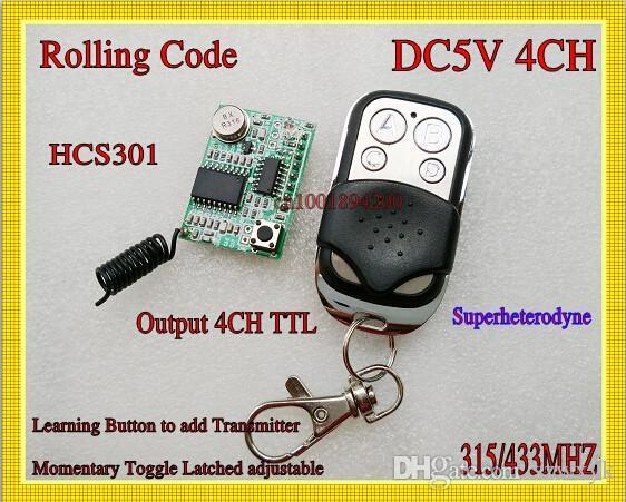 Online Cheap Rolling Code Rf Receiver Transmitter 5v 4ch